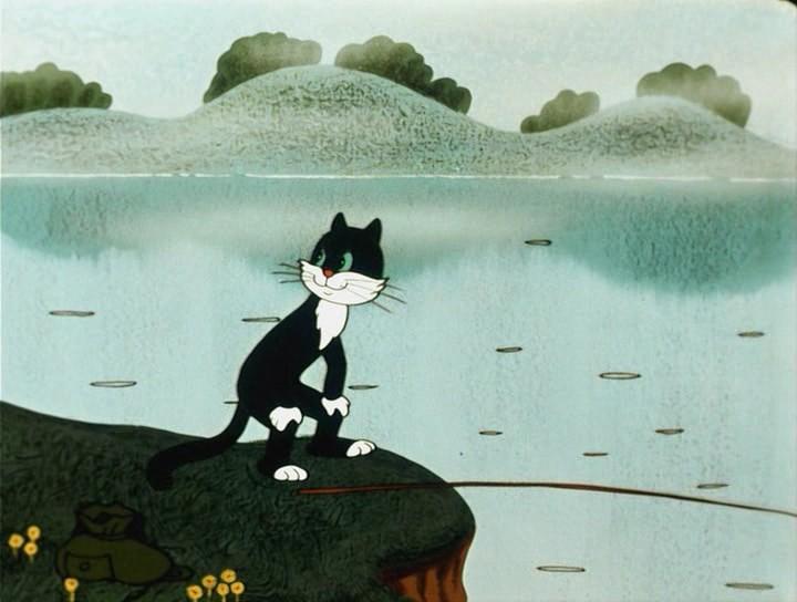 Кот рыболов сутеева мультфильмы